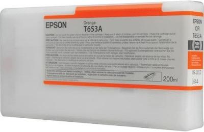 Картридж EPSON T653A (C13T653A00) оранжевый оригинальный