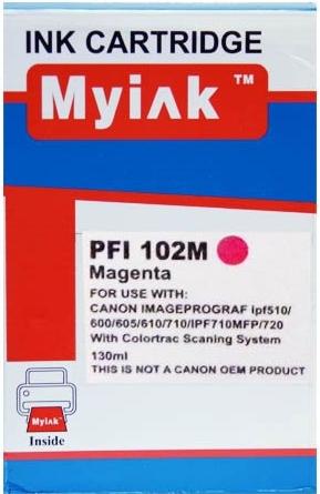Картридж совместимый MyInk PFI-102M красный для CANON
