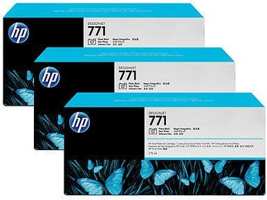 Картридж HP № 771 черный фото тройная упаковка оригинальный