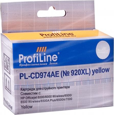 Картридж совместимый ProfiLine CD974AE №920XL для HP желтый