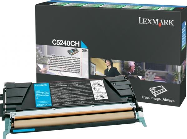 Тонер-картридж С524 для Lexmark голубой