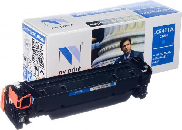 Картридж совместимый NV Print CE411A голубой для HP