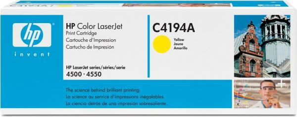 Картридж HP C4194A желтый оригинальный для CLJ 4500Y