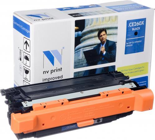 Картридж совместимый NV Print CE260X черный для HP