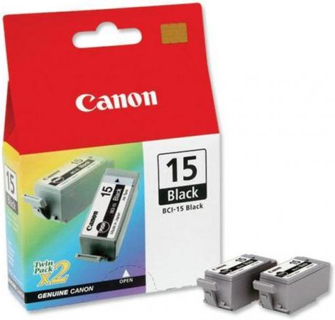 Картридж CANON BCI-15 черный двойная упаковка оригинальный