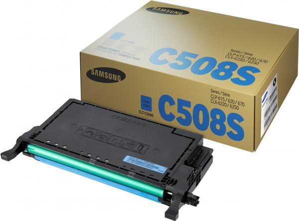 Картридж Samsung CLT-C508S голубой оригинальный