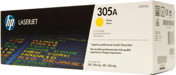 Картридж HP CE412A желтый оригинальный