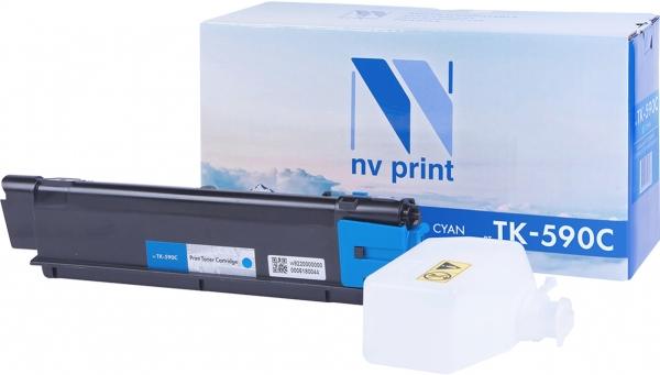 Картридж совместимый NVPrint TK-590 для Kyocera голубой