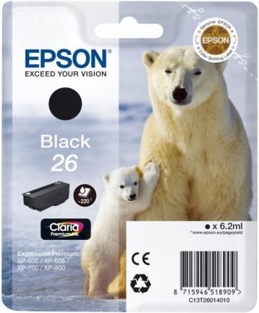 Картридж EPSON C13T26014010 черный оригинальный