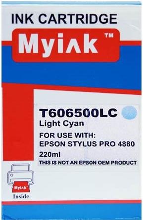 Картридж совместимый MyInk T6065 светло синий для Epson