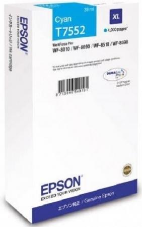 Картридж Epson T7552 (C13T755240) голубой оригинальный