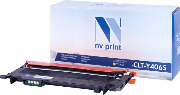 Картридж совместимый NVPrint CLT-Y406S для Samsung желтый