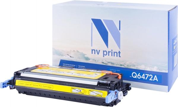 Картридж совместимый NV Print Q6472A желтый для HP