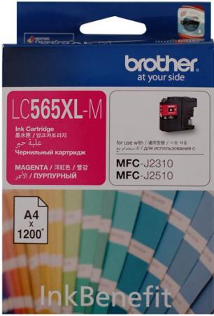 Картридж Brother LC565XLM пурпурный оригинальный