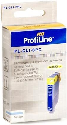 Картридж совместимый ProfiLine CLI-8PC для Canon голубой