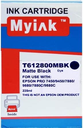 Картридж совместимый MyInk T6128 черный матовый для Epson