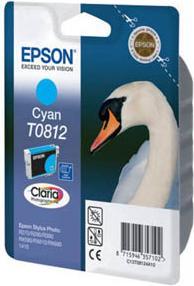Картридж EPSON T0812 голубой совместимый Lomond