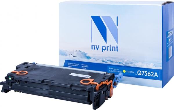 Картридж совместимый NV Print Q7562A желтый для HP