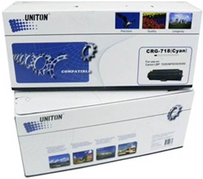 Картридж Canon Cartridge 718C голубой совместимый UNITON Premium