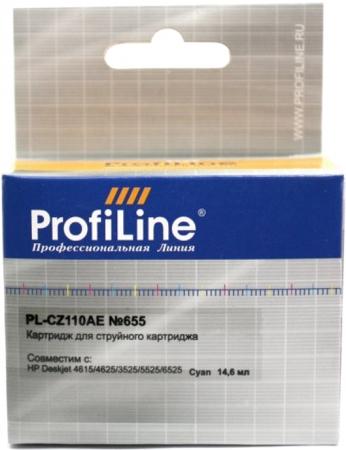 Картридж совместимый ProfiLine CZ110AE №655 для HP голубой