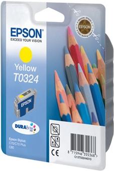 Картридж EPSON T0324 желтый оригинальный