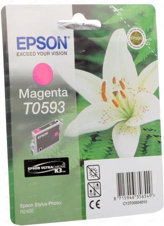 Картридж струйный Epson T0593 (C13T05934010) пурпурный оригинальный