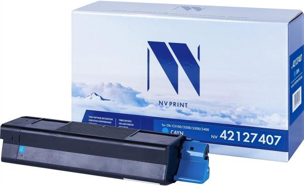 Картридж совместимый NVPrint 42127407 для Oki голубой