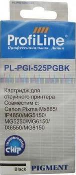Картридж совместимый ProfiLine PGI-525BK для Canon с чипом