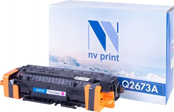 Картридж совместимый NVP Q2673A пурпурный для HP