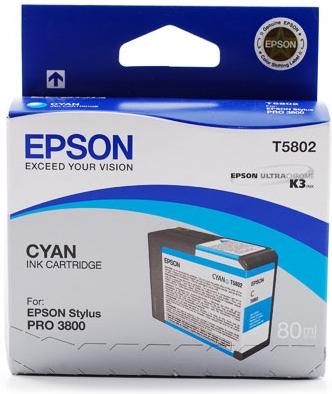 Картридж Epson T5802 (C13T580200) голубой оригинальный