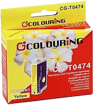 Картридж совместимый Colouring 047440 для Epson желтый