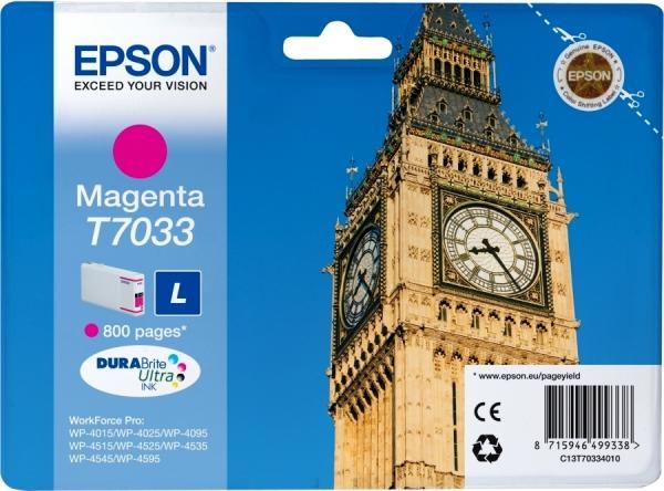 Картридж EPSON C13T70334010 пурпурный оригинальный