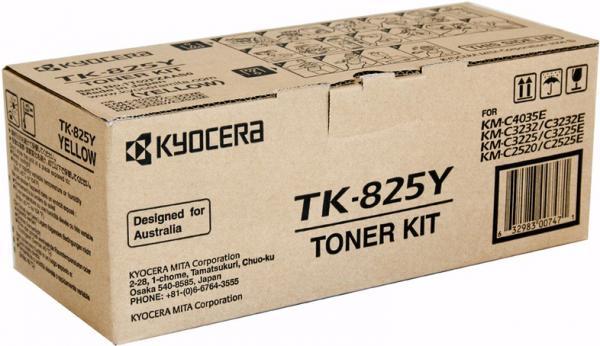 Тонер-картридж Kyocera TK-825Y желтый оригинальный