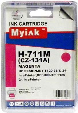Картридж совместимый MyInk CZ131A красный для HP
