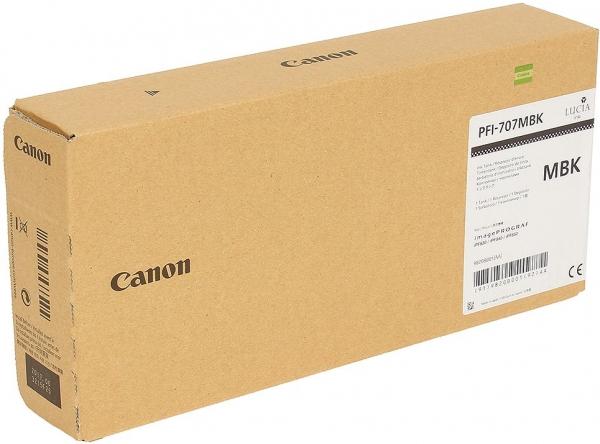 Картридж Canon PFI-707MBK матовый черный оригинальный