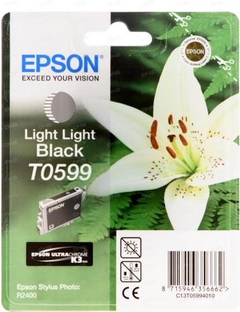 Картридж Epson T0599 (C13T05994010) светло-серый оригинальный