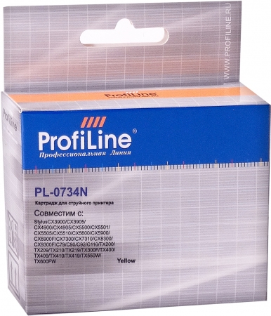 Картридж совместимый ProfiLine 0734N для Epson желтый