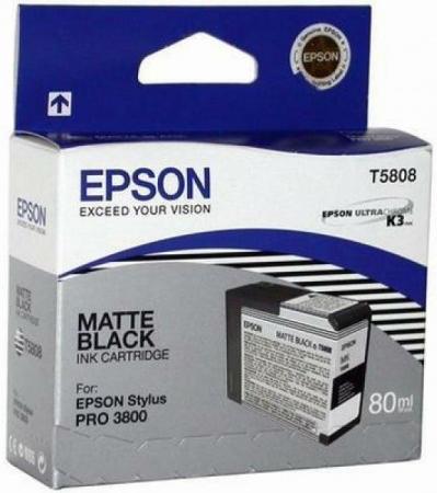 Картридж Epson T5808 (C13T580800) матовый черный оригинальный