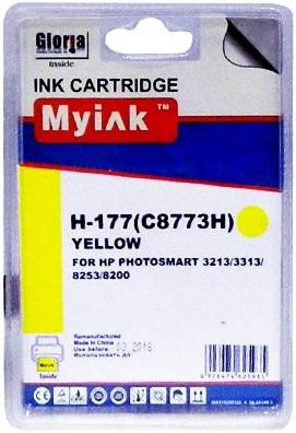 Картридж совместимый MyInk C8773H желтый для HP