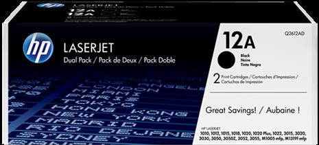 Картридж HP Q2612AF черный двойная упаковка оригинальный