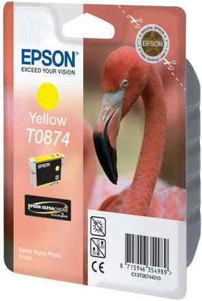 Картридж EPSON T08744010 желтый оригинальный