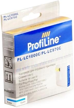 Картридж совместимый ProfiLine LC1000C/LC970BC для Brother голубой
