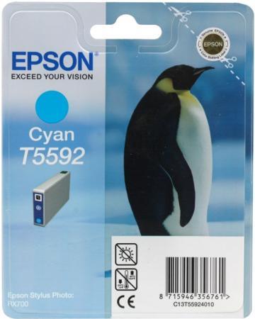 Картридж EPSON Т559240 голубой оригинальный