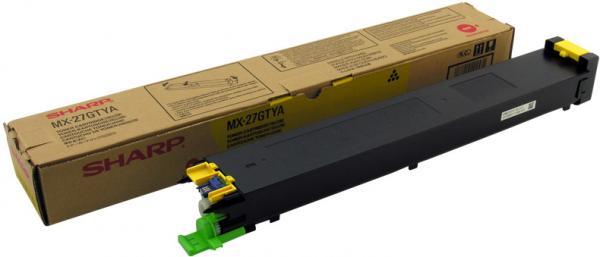 Картридж Sharp MX27GTYA желтый оригинал