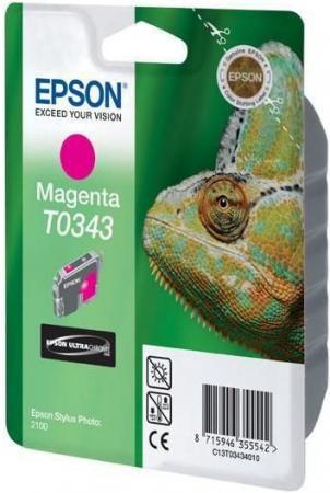 Картридж EPSON T034340 пурпурный оригинальный