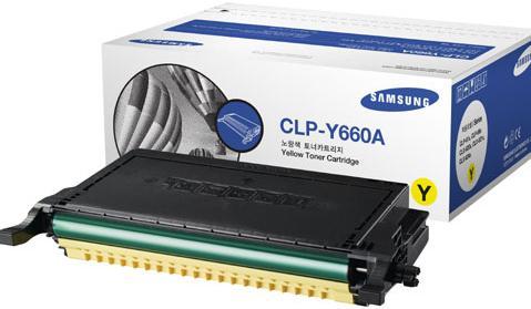 Картридж Samsung CLP-Y660A желтый оригинальный