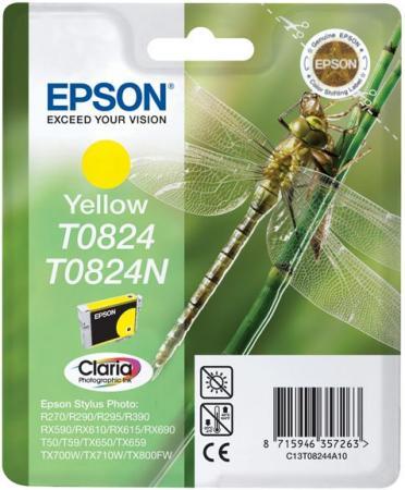 Картридж EPSON C13T11244A10 желтый оригинальный
