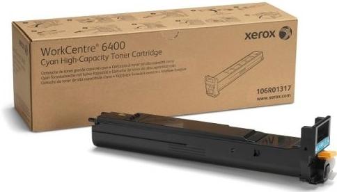 Картридж XEROX 106R01317 голубой оригинальный
