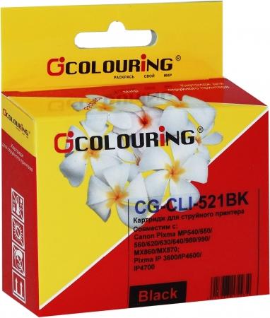 Картридж совместимый Colouring CLI-521BK для Canon с чипом
